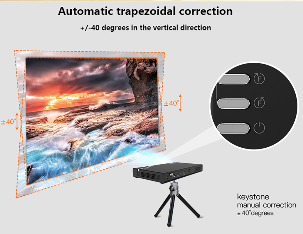 CRENOVA Wireless and Remote Control Mini Projector With Bluetooth and 16GB ROM 15
