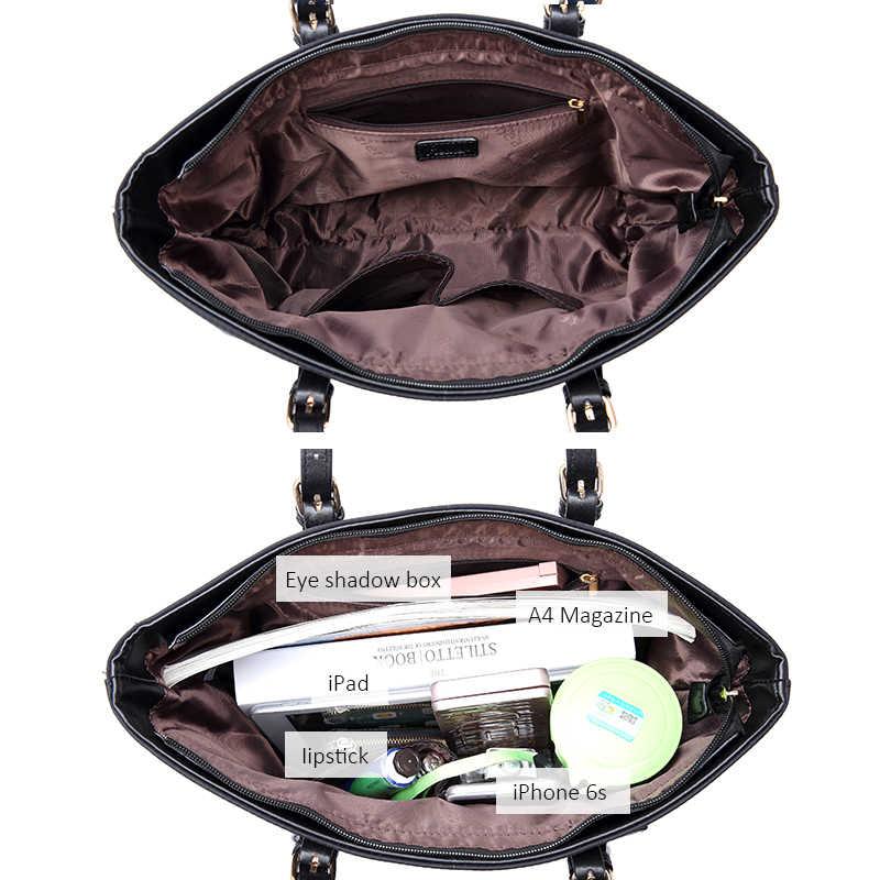 REALER, женская сумка, большая, Оксфорд, сумка-тоут, женская сумка на плечо, для женщин, с карманами, для девушек, дизайнерские кошельки, черный, синий