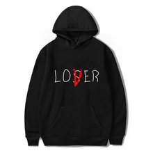 Lover Loser impreso Hoodys Vintage Vogue Ullzang hombres Hodies Otoño Invierno Hoodies sudadera Fleece Street para Mujeres Hombres