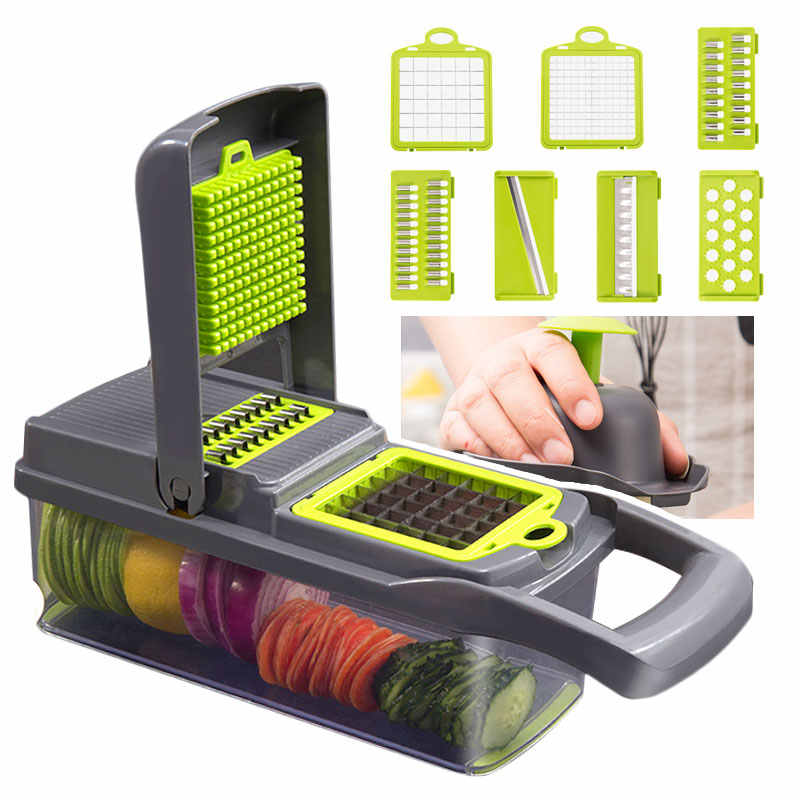 Dapur Multifungsi Vegetable Cutter Mandolin Alat Pemotong Buah Alat Pisau Parutan Pengupas Kentang Wortel Keju Parutan Slicer