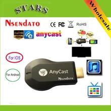 Anycast m2 ezcast Miracast cualquier fundido inalámbrico para DLNA AirPlay espejo HD TV Stick receptor de llave electrónica con pantalla y Wifi para Android IOS
