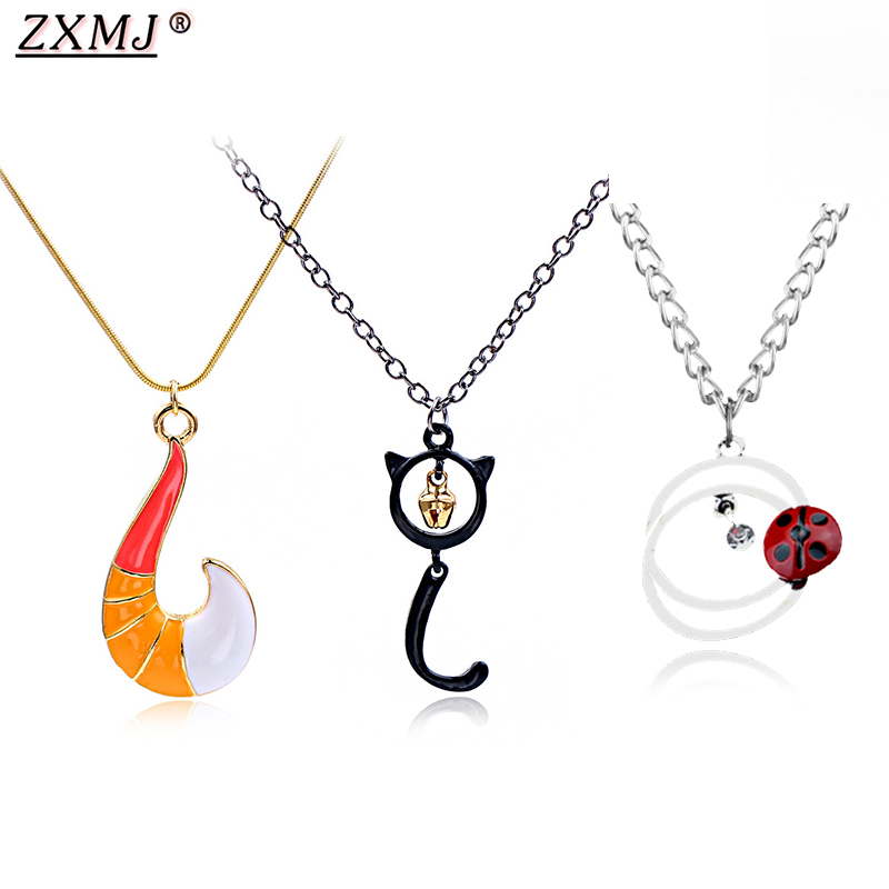 ZXMJ Miraculous Ladybug Necklace pendant Fashion Black cat noel ocean Anime around Metal necklaces Women Men Jewelry Gift hot