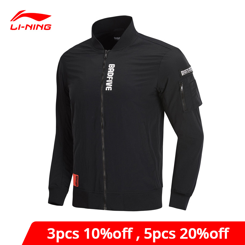 Li-Ning Men BAD FIVE Basketball Jacket AT PROOF SMART Regular Fit Printing Pockets Li Ning LiNing Sports Coats AJDP005 MWJ2591