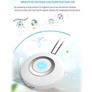 Image 4 - USB แบบพกพาเครื่องฟอกอากาศ Wearable,MINI AIR สร้อยคอ Ion Air Freshener ไม่มีรังสีต่ำสำหรับผู้ใหญ่