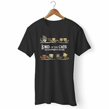 New Lord Of The Cats Furlowship Of The Ring Man Woman T-Shirt Usa Size Em1(1)(China)