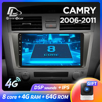 prelingcar For Toyota Camry 7 XV 40 years Car Radio stereo Multimedia Video Player Navigation GPS Android 9.0 DSP dashboard
