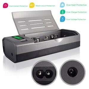 Image 5 - Зарядное устройство PALO C906w, устройство для быстрой зарядки АА, ААА, С, D, 9 В, экологически чистое, черного цвета