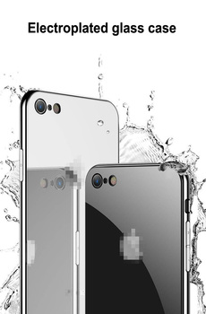 Luxury Ultra Thin Mirror Plating Tempered Glass Back Cover Phone Case For Apple iPhone 11 11Pro X XR XS Max 6S 7 8 6 Plus Coque 2