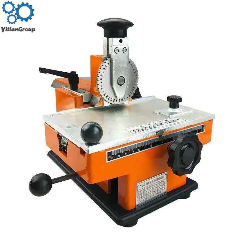 Semiautomat Nameplate Marking Machine, Signage Licensing Machine, Typewriter, Manual Marking Machine, Typewriter, Coding Machine