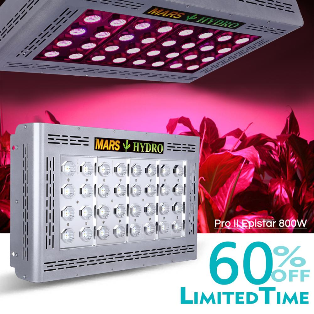 Mars Hydro Mars Pro II Epistar 800W LED Grow Light ,hydroponic System Best For Veg Flower Plant 386W