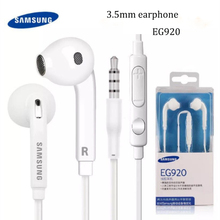 Original samsung 3.5mm in ear earphone EG920 headset Bass Earbud with Mic/Volume For galaxy A70 A50 NOTE 8 9 s6 s7 edge with box