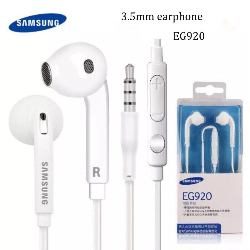 Samsung, fone de ouvido original 3.5mm, fone de ouvido eg920, grave, com microfone/volume para galaxy a70 a50 note 8 borda com caixa 9 s6 s7