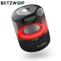 BlitzWolf-BW-AS4 inalámbrico Portátil con bluetooth, altavoz compatible con luz RGB BT5.0, estéreo envolvente, TWS