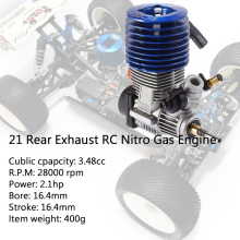 SH21 Rear Exhaust RC Nitro Gas Engine 3.48CC for HSP HPI RedCat Racing 1/8 1/10 Monster Buggy Truggy Truck Drift Car