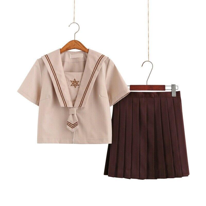 Japanese JK Uniform Sailor Suit Long Short Sleeve Student School Uniform