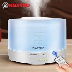 400 a 500ml de controle remoto ultra-sônico umidificador aroma ar 7 cores led luz elétrica aromaterapia difusor aroma do óleo essencial