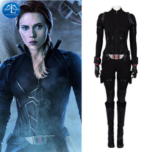 Manluyunxiao Black Widow Cosplay Natasha Romanoff Outfit Halloween Costume Avengers End Game Captain America Superhero Jumpsuit