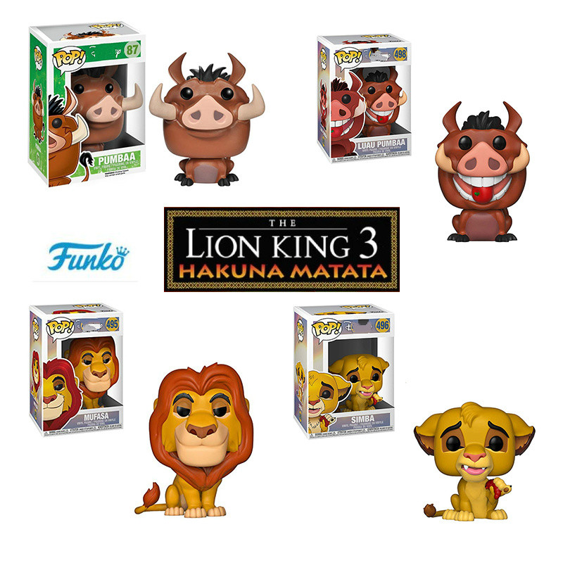 FUNKO POP The Lion King Simba Luau Nala Pumbaa MUFASA Luau Timon Cartoon Anime Figure Figures Collection Model Toys For Gift
