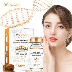 InniCare Gold Snail Serum Face Serum Moisturizer Essence Cream Whitening Day Anti Aging Anti Wrinkle Firming lift Skin Care