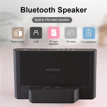 цена на NNS NS-Q39 Wireless Bluetooth Stereo Speaker For Phone Tablet Laptop Portable FM Radio MP3 Player Micro SD/TF USB Rechargeable