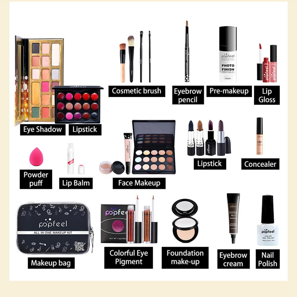 Popfeel maquiagem conjunto kit de cosméticos (sombra