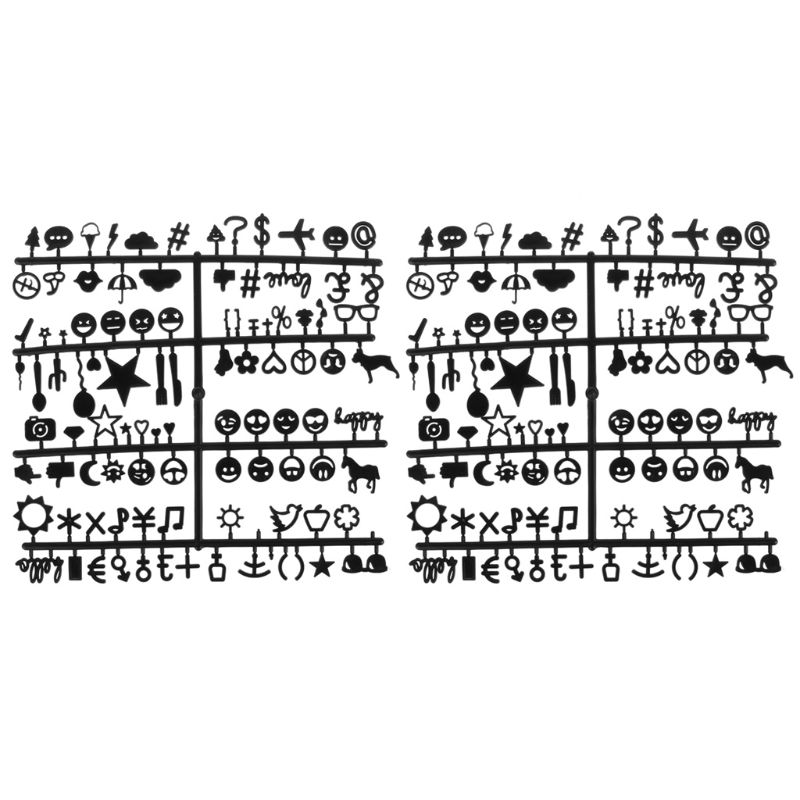 Letter Board Numbers Exchangeable Felt Alphabet Symbols Retro Color Black