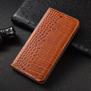 Image 2 - Crocodile Genuine Flip Leather Case For Huawei Y5 Y6 Y6S Y7 Y9 Y9S Y5P Y6P Y7P Y8P Prime 2017 2018 2019 2020 Phone Cover Cases