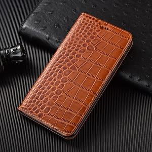 Image 2 - Crocodile Genuine Flip Leather Case For Meizu M3 M3S M5 M6 M6T 15 16 16S 16T 16TH 16XS V8 Pro 7 17 Note 8 9 X8 Plus Lite Cover