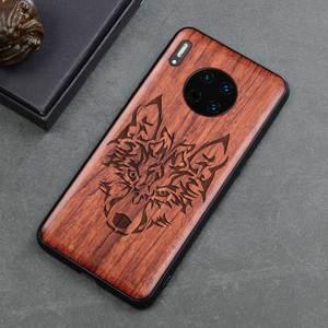 Image 4 - 2019 nowy dla Huawei Mate 30 Pro etui Slim drewno tylna pokrywa obudowa zderzaka TPU na Huawei Mate30 Mate 30 etui na telefon Pro