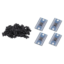 100x White 4.5mm Width Cable Tie Base Saddle Type Mount Wire Holder & 4X TXS0108E 8 Channel Logic Level Converter