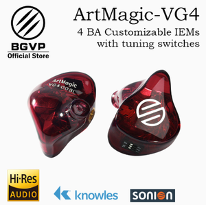 Image 3 - BGVP HIFI ArtMagic VG4 4 armaduras equilibradas personalizables en monitores de oído interfaz MMCX con Kabel HIFI Auriculares
