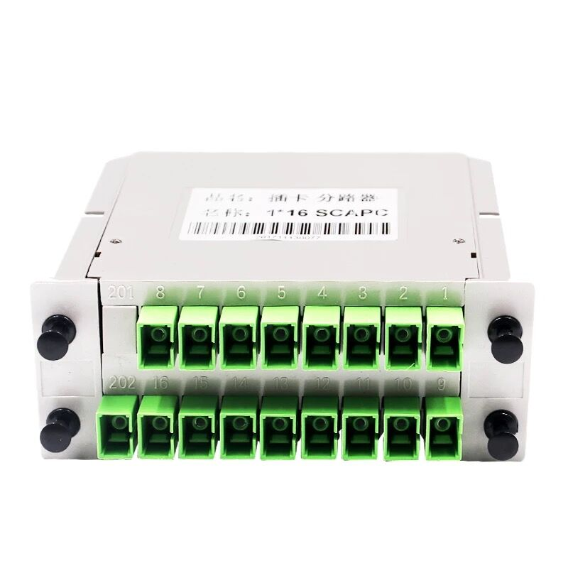 Free Shipping 1x16 Splitter LGX Box Cassette Card Inserting SC/APC PLC Splitter Module 1:16 16 Ports Fiber Optical PLC Splitter