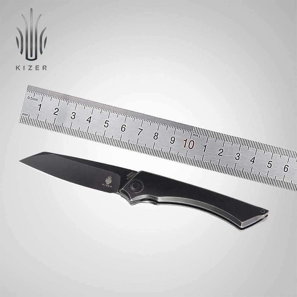 Kizer Survival Knife KI3564A1 M STEALTH 2020 New Front Flipper Knife Black Stonewashed Blade Knife