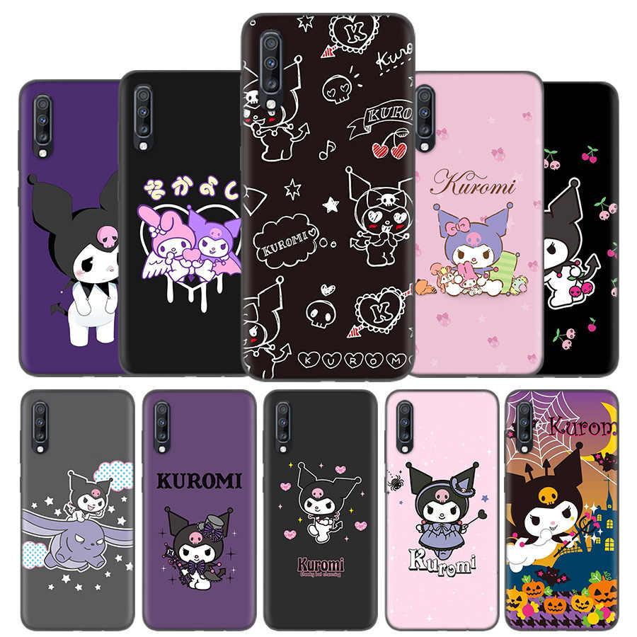 ซิลิโคนสำหรับ Samsung Galaxy A50 A80 A70 A40 A30 A20 A10 A51 A71 A11 A21 หมายเหตุ 8 9 10 Plus 5G 10 Lite Kuromi การ์ตูน