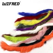 Wifreo 4 pçs coelho pele lebre zonker tiras para voar amarrando material streamer pesca moscas fazendo 5mm de largura