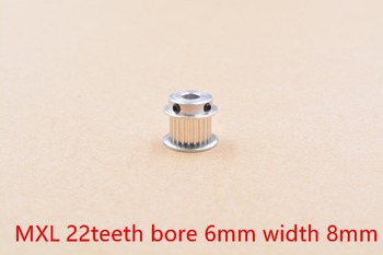 BF type MXL Timing Pulley 22 teeth Bore 6mm for width 8mm Synchronous Belt Small backlash 22Teeth image