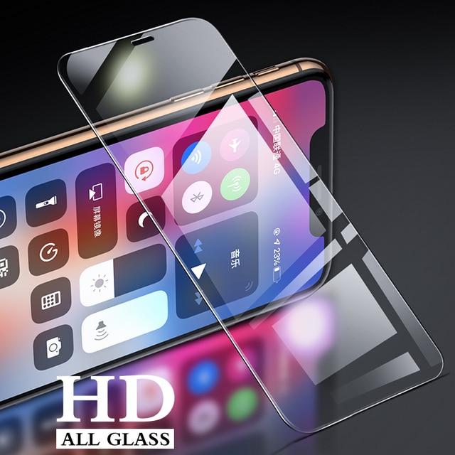 Vidrio templado para iPhone X XS X MAX XR 5 5S SE 5c película protectora de pantalla para iPhone 6 6s 7 7 Plus X Xr Protector de vidrio