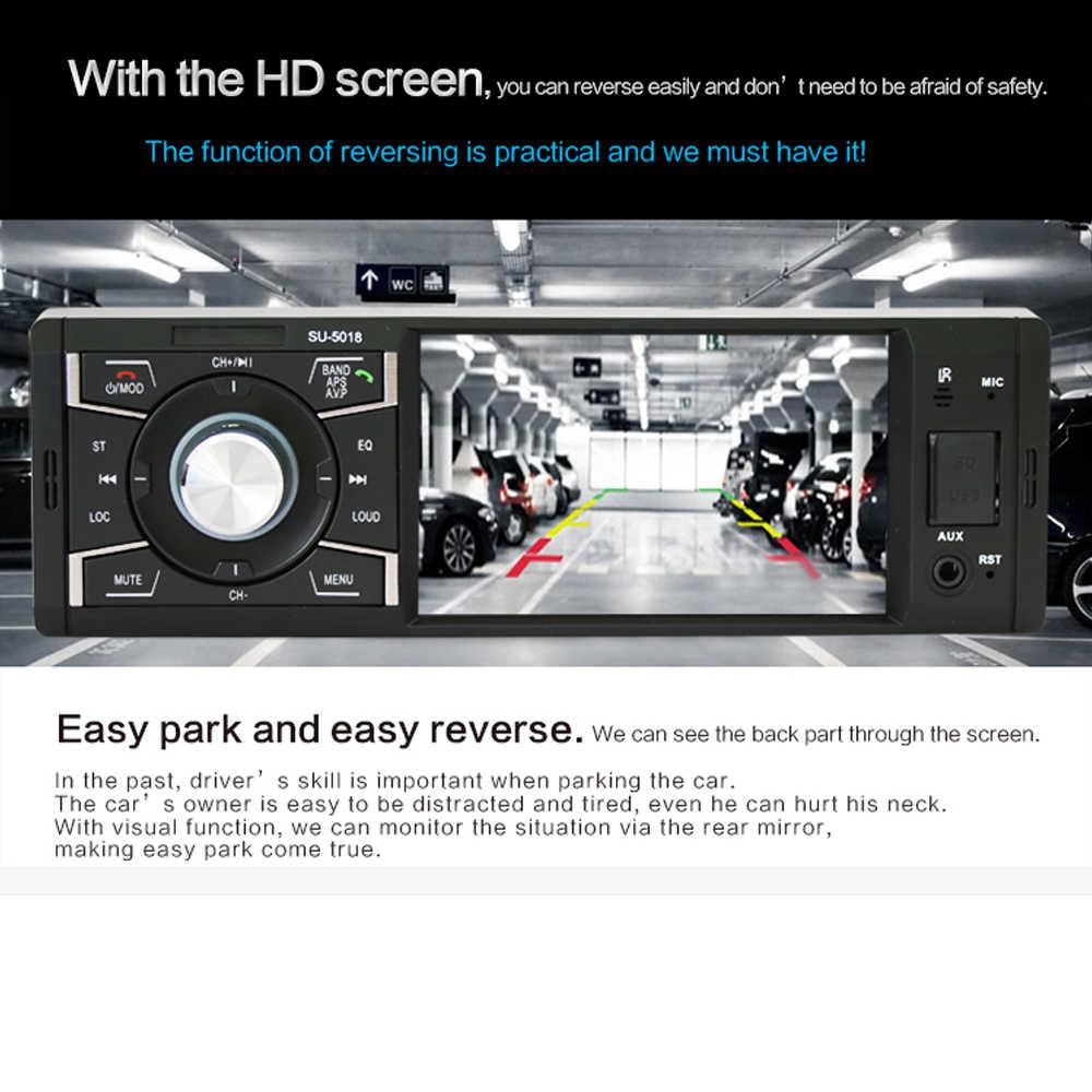 """Автомагнитола стерео 4 """"1 Din мультимедийный AUX-IN MP5 плеер Bluetooth приемник FM USB SD Поддержка камеры безопасности"""