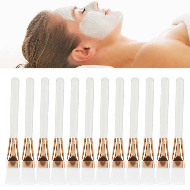 12pcs Silicone Face Mask Brushes Soft Facial Mud Mask Applicator Brushes for Sleeping Mask Skin Face Care Tools Accessories Kit