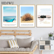 Mediterranean SeascapeTriad Decoration painting Art Home Canvas Painting Wall Picture for Living Room  AJ00442