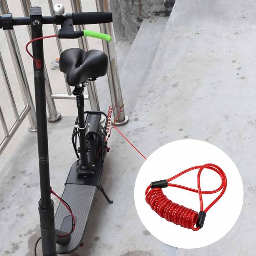 Anti-Theft Rem Cakram Kunci dengan Kawat Baja untuk Xiaomi Electric Scooter Skateboard Roda Kunci Disc Brake
