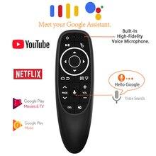 Ratón de aire G10S Pro retroiluminado, Control por voz con retroiluminación, Mini giroscopio de Control remoto inteligente inalámbrico para Android tv box PC