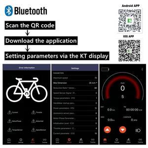 Image 3 - Controlador de bicicleta eléctrica con Bluetooth KT, controlador de onda sinusoidal/modo Dual para Motor de bicicleta eléctrica sin escobillas de 36V/48V 250W 2000W