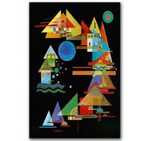 Im Blau c1925 Giclee poster By Wassily Kandinsky painting Wall oil Painting picture print on canvas Spitze in Bogen Hand drawn