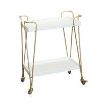Nordic solid wood dining car sideboard dessert tea wine cart hotel home living room showroom mobile cart