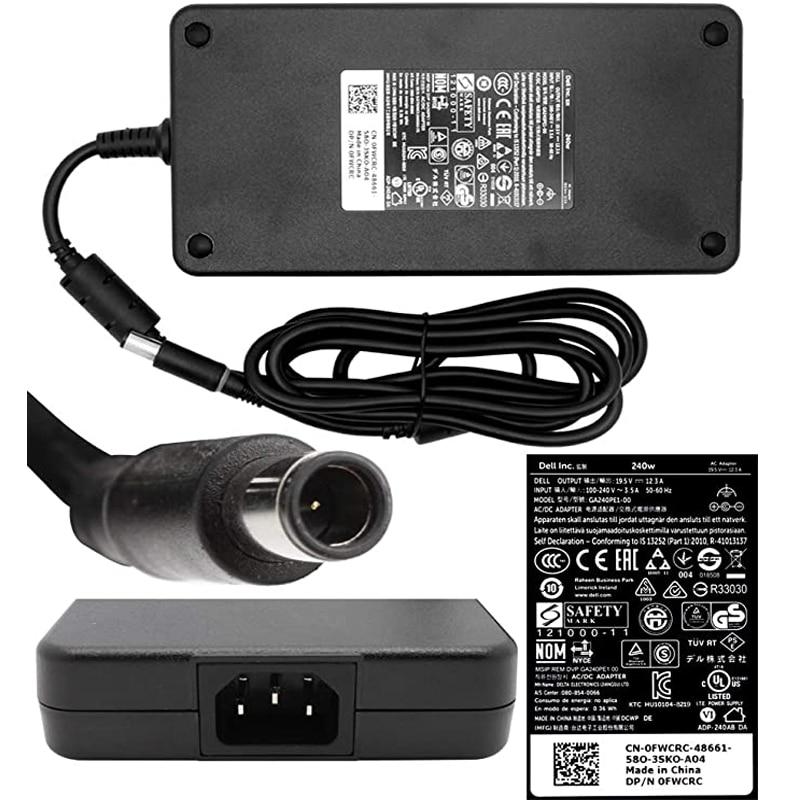 Новый оригинальный UL 19,5 V 12.3A 240W AC Зарядное устройство для Dell Precision ноутбук Питание адаптер Шнур