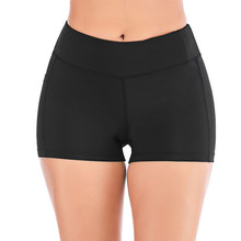 Women High Waist Yoga Shorts Side Cell Phone Pockets Sports Shorts Leggings Summer Fitness Gym Sportwear Short Deportivo Mujer