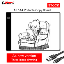 CC01 A4 A5 LED Copy Board For Anime Comic Drawing Tablet Children's Graffiti Board Led 3-Level Dimming Pad With Cable