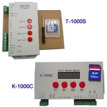 K 1000C (T 1000S 업데이트 됨) 컨트롤러 K1000C WS2812B,WS2811,APA102,T1000S WS2813 LED 2048 픽셀 프로그램 컨트롤러 DC5 24V