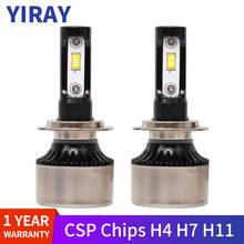 YIRAY H7 LED Canbus Error Free Car Headlight H4 H11 H8 H9 H1 HB3 9005 HB4 9006 H3 CSP bulbs Auto light 90W 9600lm 6500K 12v 24v